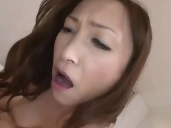 Japanese milf rides until that chick receives creampie