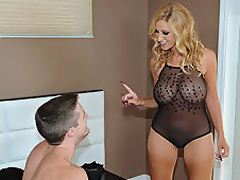 Blonde MILF Holly Got Her Mound Loaded Up
