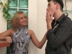 Russian milf whore seduces, copulates and moans