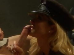 Sexually excited Policewoman Jessica Drake Fucking and Drubbing In Uniform