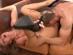 Sexy Dyanna Lauren gets her pink wet cum-hole fucked by a huge hard cock