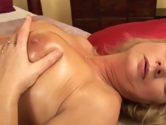 Lustful older woman Rosalyn pleases herself