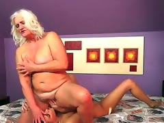 Naughty forty lascivious milf doxy lesbo Judi gets her orgasmic cunt licked by a slutty brunette doxy Parker