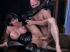 Breasty slut Eva Karera having intense pelasure with hunk Johnny Sins in dirty hardcore