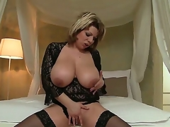 David Perry has large enough pecker to satisfy Silvie Wild with her powerful large wobblers