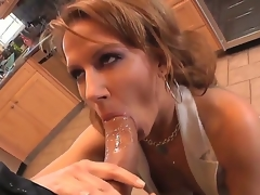 Sexy mama Inari Vachs makes a decision to show her fresh boyfriend that maturity and experience is a lot better that amateur, doing a good old-fashioned blowjob for Roman Nomar in the kitchen