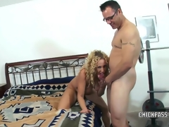 Horny MILF Samantha gets stuffed with a stiff dick