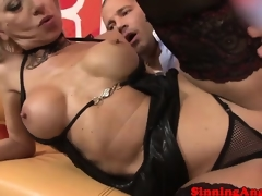 Perverted pussy pierced breasty mature fucked