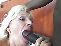 Granny receives juvenile black penis
