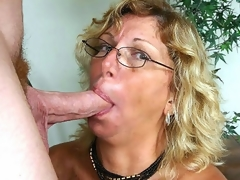 I've been chatting with horny mature Alicia for sometime now when we finally decided that it was time to meet. After a quick call, this golden-haired granny was hurrying over to my place where that babe eagerly lapped up my pole and loved the sexy facial I gave her.