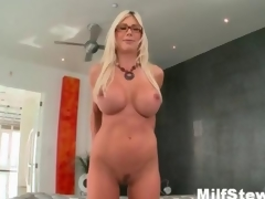 Down in the mouth blonde milf wanting silly showing say no to boobs