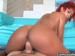 Hot ebony slattern goes crazy sucking movie