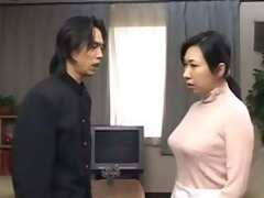 japanese mother receive d by son paired with cums inner her