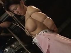 Breasty asian milf tied & tied