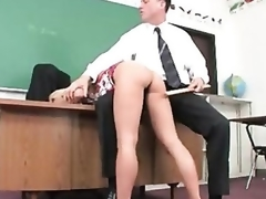 Juicy schoolgirl captured and fucked by concupiscent mature stud