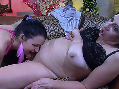 Bi-curious youthful sweetheart acquires it on with a mommy licking her bazookas and beaver